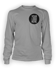 10 - Custom Designed - Gildan Long Sleeve Shirts - Two Color Front Left Crest Logo Only