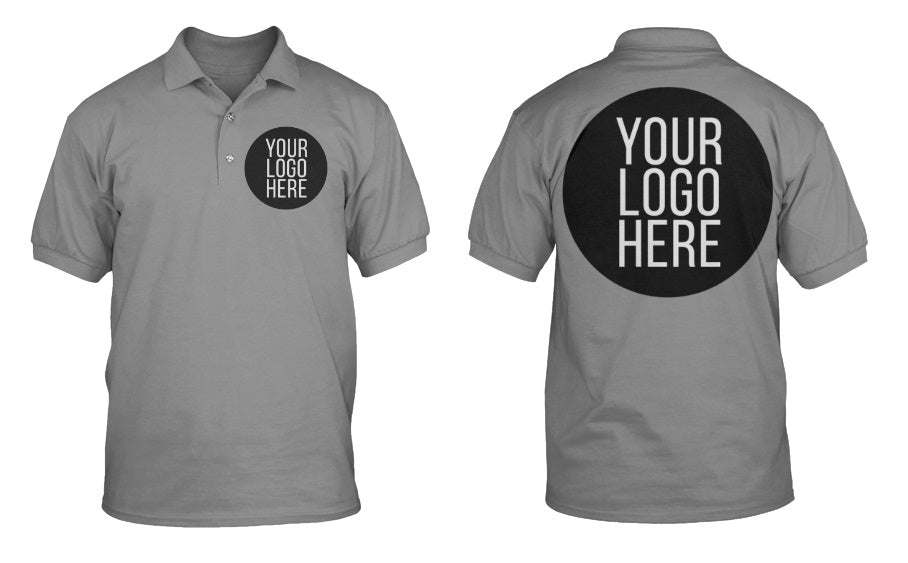 10 - Custom Designed - Sport-Tek RacerMesh Polos - One Color Front Left Crest & One Color Full Back Logo