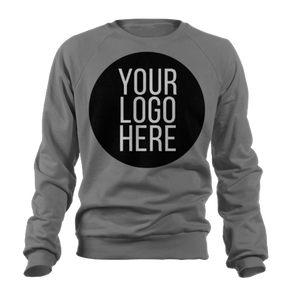 20 - Custom Designed - Gildan Crewneck Sweatshirts - One Color Full Front Logo Only
