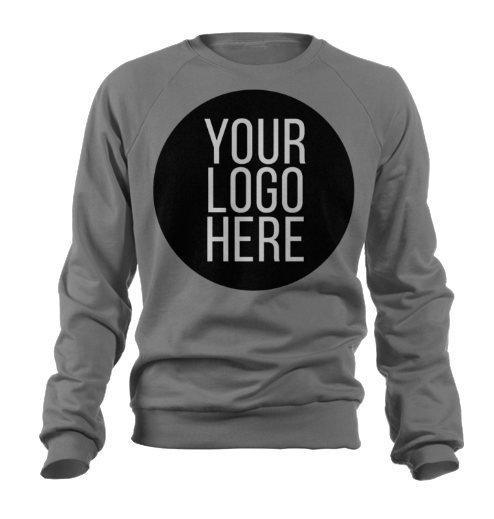 5 - Custom Designed - Gildan Crewneck Sweatshirts - One Color Full Front Logo Only