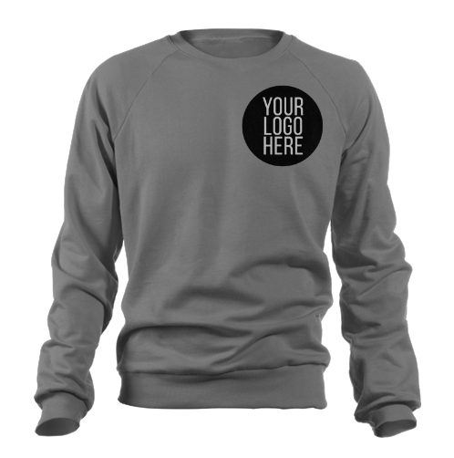 5 - Custom Designed - Gildan Crewneck Sweatshirts - Two Color Front Left Crest Logo Only