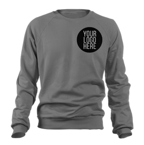 10 - Custom Designed - Gildan Crewneck Sweatshirts - One Color Front Left Crest Logo Only