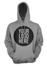 20 - Custom Designed - Gildan Hooded Sweatshirt - One Color Full Front Logo Only