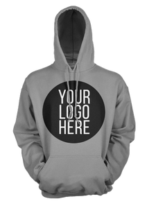 5 - Custom Designed - Gildan Hooded Sweatshirts - One Color Full Front Logo Only