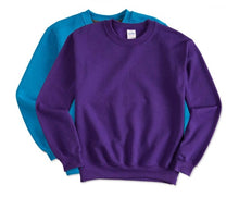 5 - Custom Designed - Gildan Crewneck Sweatshirts - One Color Front Left Crest Logo Only