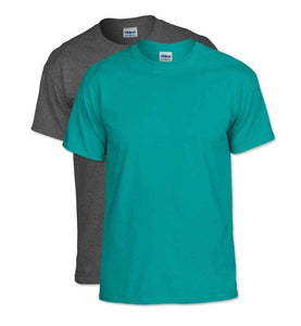 5 - Custom Designed - Gildan 50/50 T-Shirts - One Color Full Front Logo Only