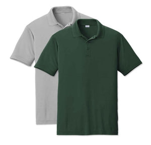 5 - Custom Designed - Sport-Tek RacerMesh Polos - One Color Front Left Crest & One Color Full Back Logo