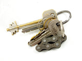 "Keyholder ""6"" – recycled bike keychain by Felvarrom bicycle upcyclery - 1"