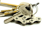 "Keyholder ""6"" – recycled bike keychain by Felvarrom bicycle upcyclery - 6"