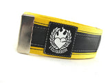 Bikers trousers strap – sun yellow by Felvarrom bicycle upcyclery - 1