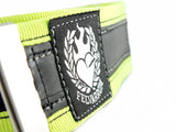 Trousers strap from reclaimed inner tube – neon by Felvarrom bicycle upcyclery - 3