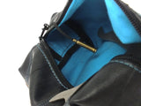 """InTuBag"" reclaimed bike tube bag, large, blue inside by Felvarrom bicycle upcyclery - 3"