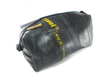 """InTuBag"" reclaimed bike tube bag, large, blue inside by Felvarrom bicycle upcyclery - 1"