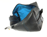 """InTuBag"" reclaimed bike tube bag, large, blue inside by Felvarrom bicycle upcyclery - 2"