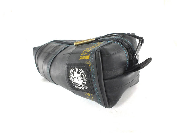 """InTuBag"" bicycle tube bag, medium, blue inside by Felvarrom bicycle upcyclery - 1"
