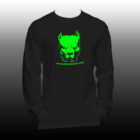 K9 MC Mens Long Sleeve Black