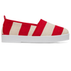 Womens Stripe Red Alma Flatform Plimsoll