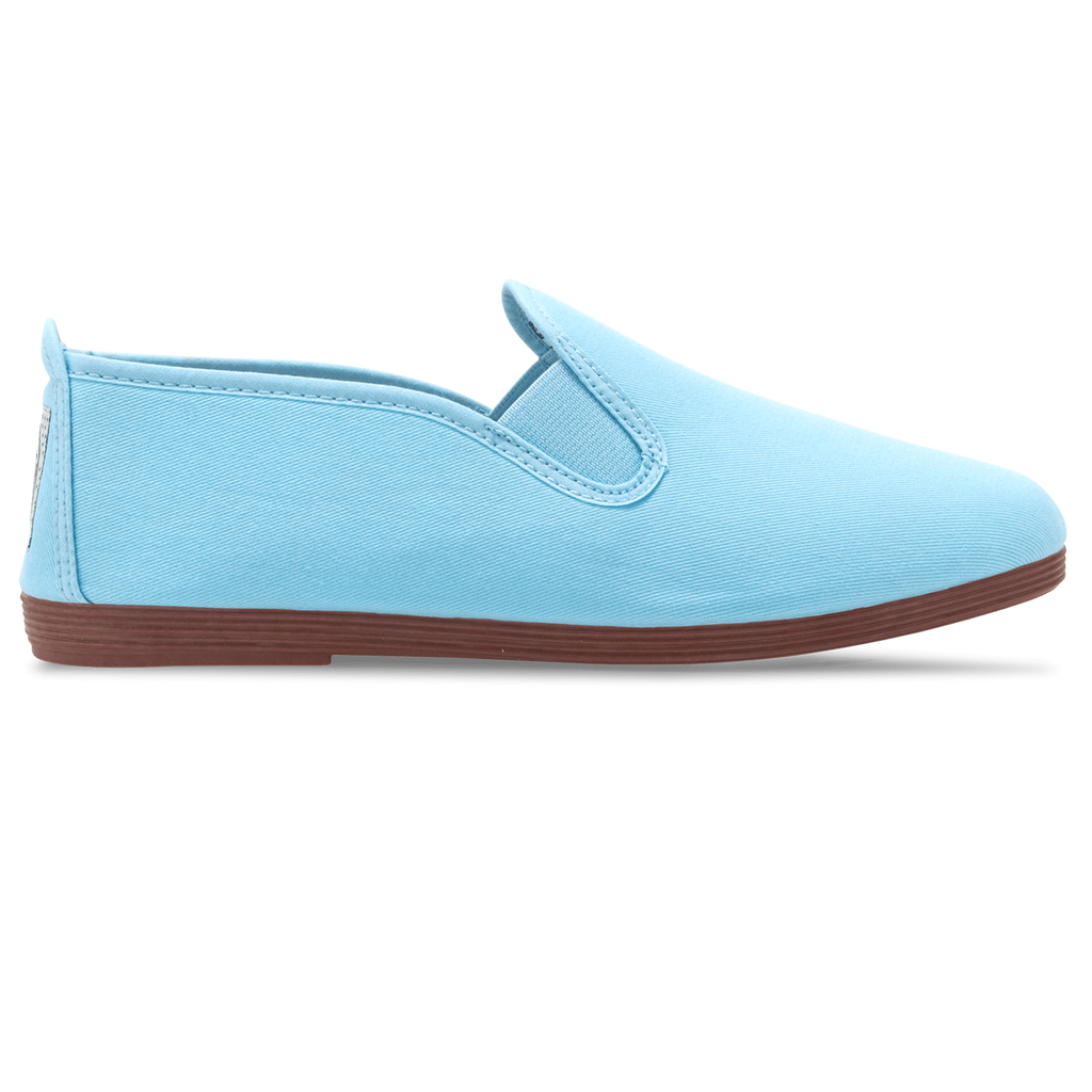 Mens Baby Blue Arnedo Slip on Plimsoll