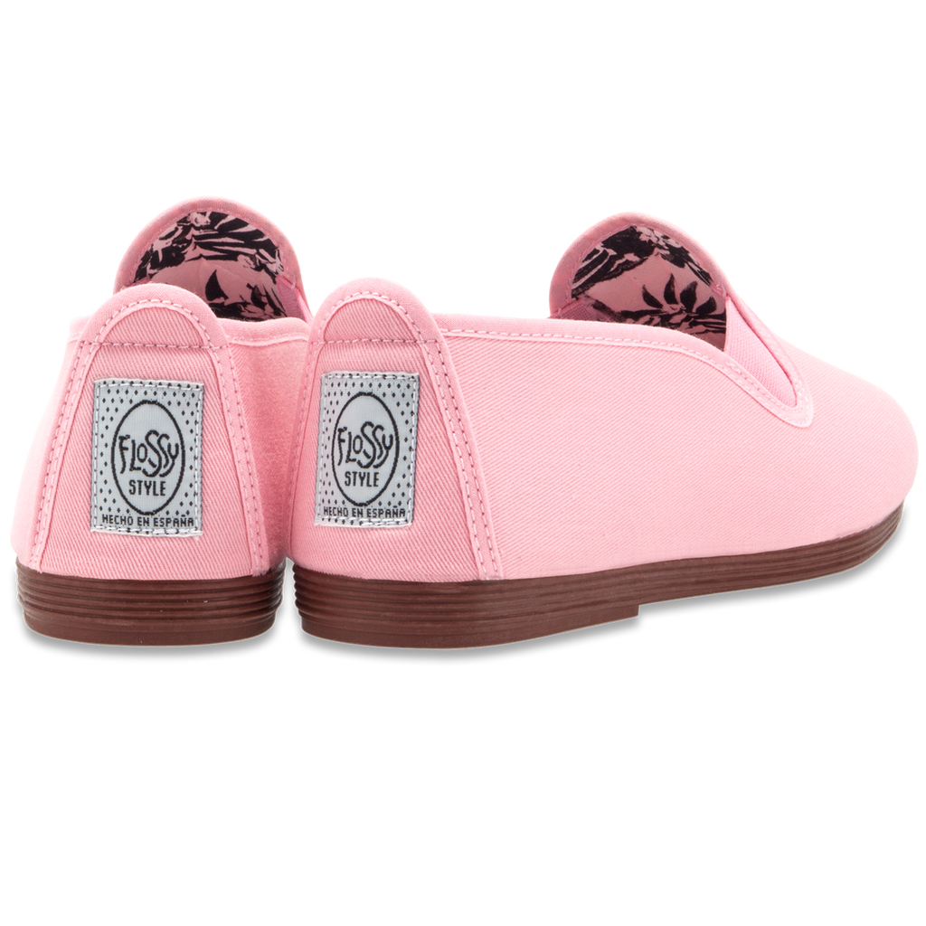 Womens Baby Pink Arnedo Slip on Plimsoll