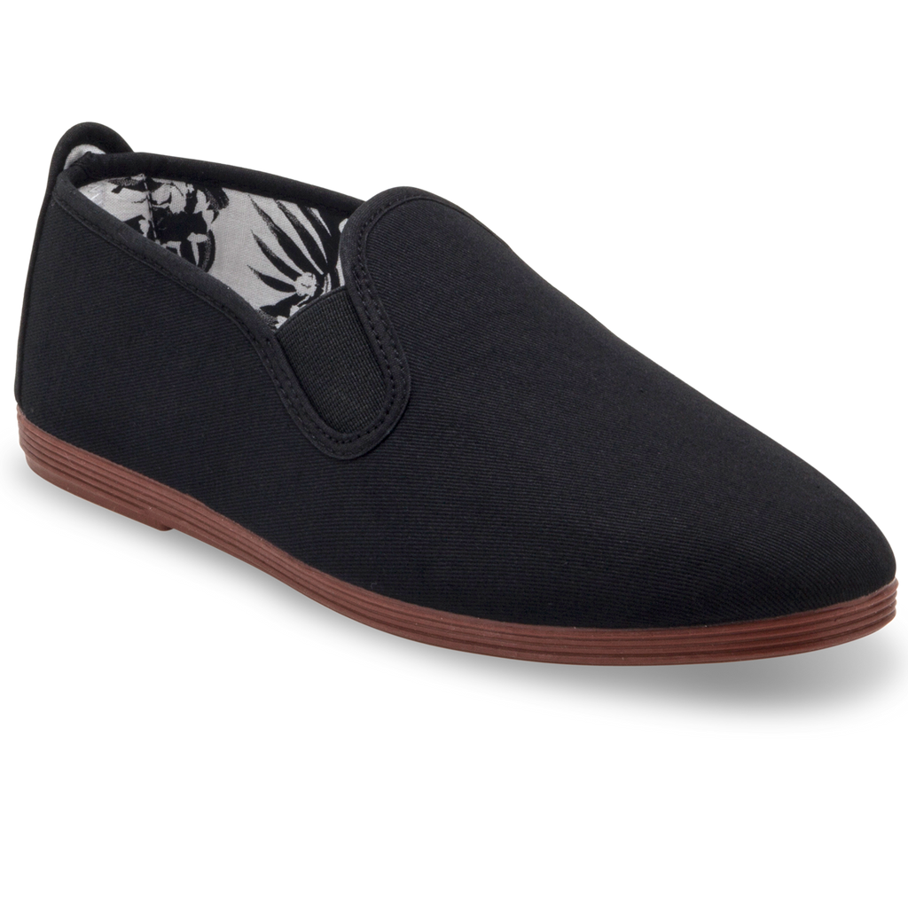 Mens Black Arnedo Slip on Plimsoll