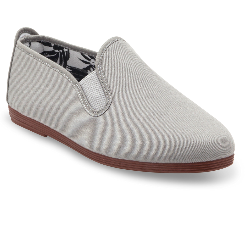 Mens Grey Arnedo Slip on Plimsoll