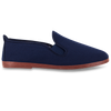 Womens Navy Arnedo Slip on Plimsoll