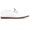 Mens White Arnedo Slip on Plimsoll