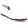Womens White Arnedo Slip on Plimsoll