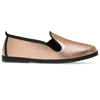 Womens Mettalic Bronze Arturo Slip on Plimsoll