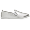 Womens Metallic Silver Arturo Slip on Plimsoll