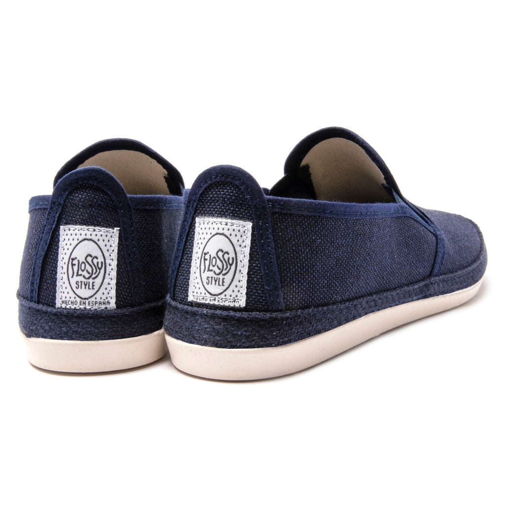 Mens Navy Campestre Slip On Plimsoll