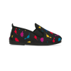 Kids Print Black Calista Slip on Plimsoll