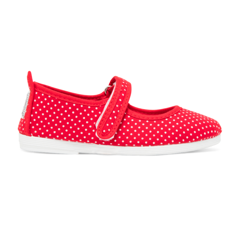 Kids Print Red Bailen Mary Jane Plimsoll