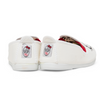 Kids HELLO KITTY White/Red Bow Slip on Plimsoll