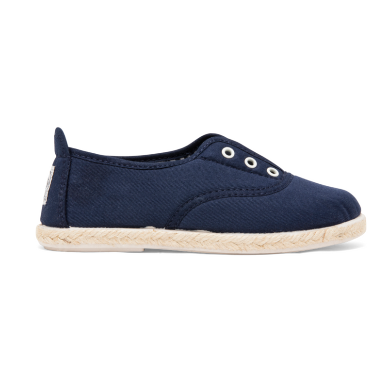 Kids Navy Goloso Slip on Espadrille Plimsoll