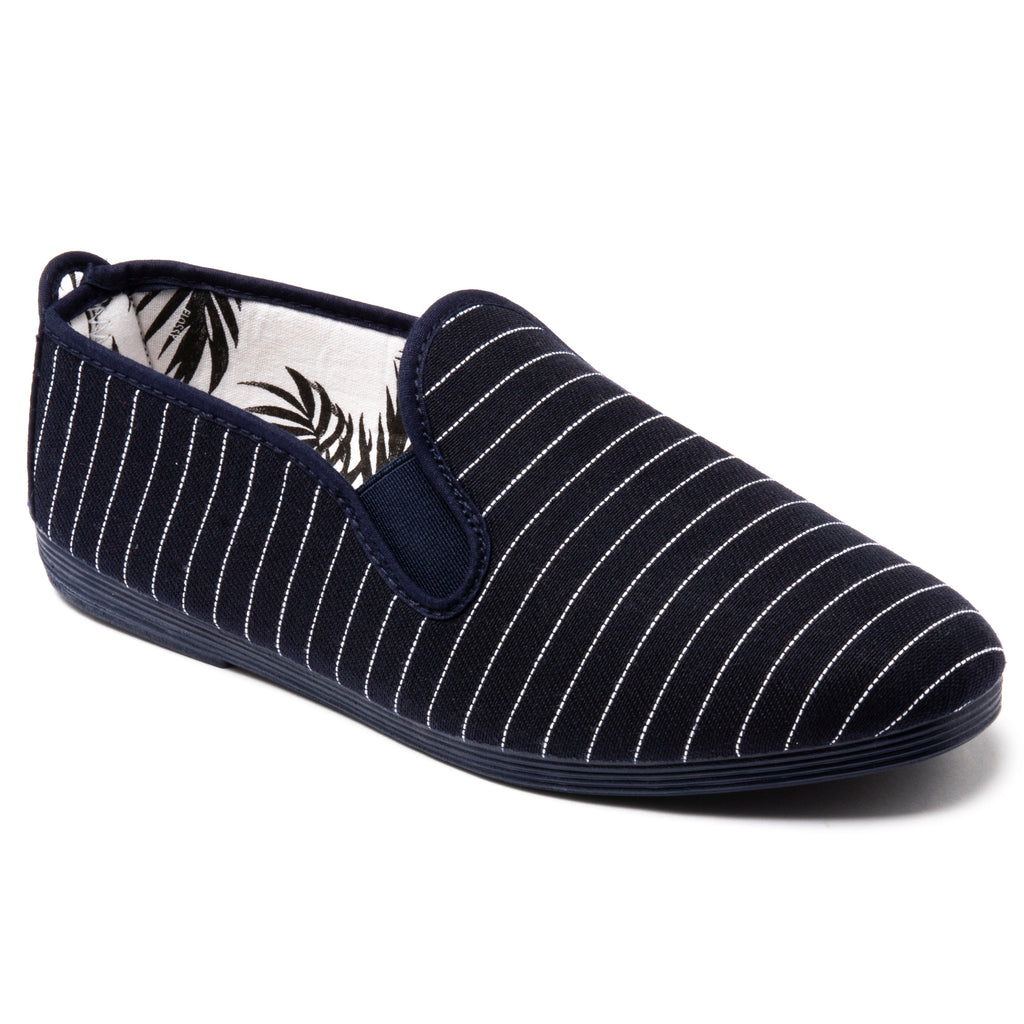Womens Navy Diablo Slip on Plimsoll