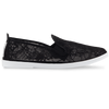 Womens Black Deia Slip on Plimsoll