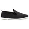 Womens Black Eco Slip on Plimsoll