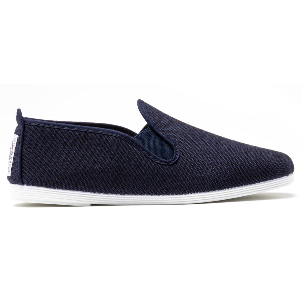 Womens Navy Eco Slip on Plimsoll