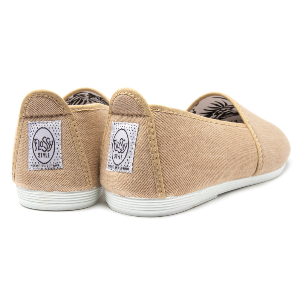 Mens Beige Sancho Slip on Plimsoll