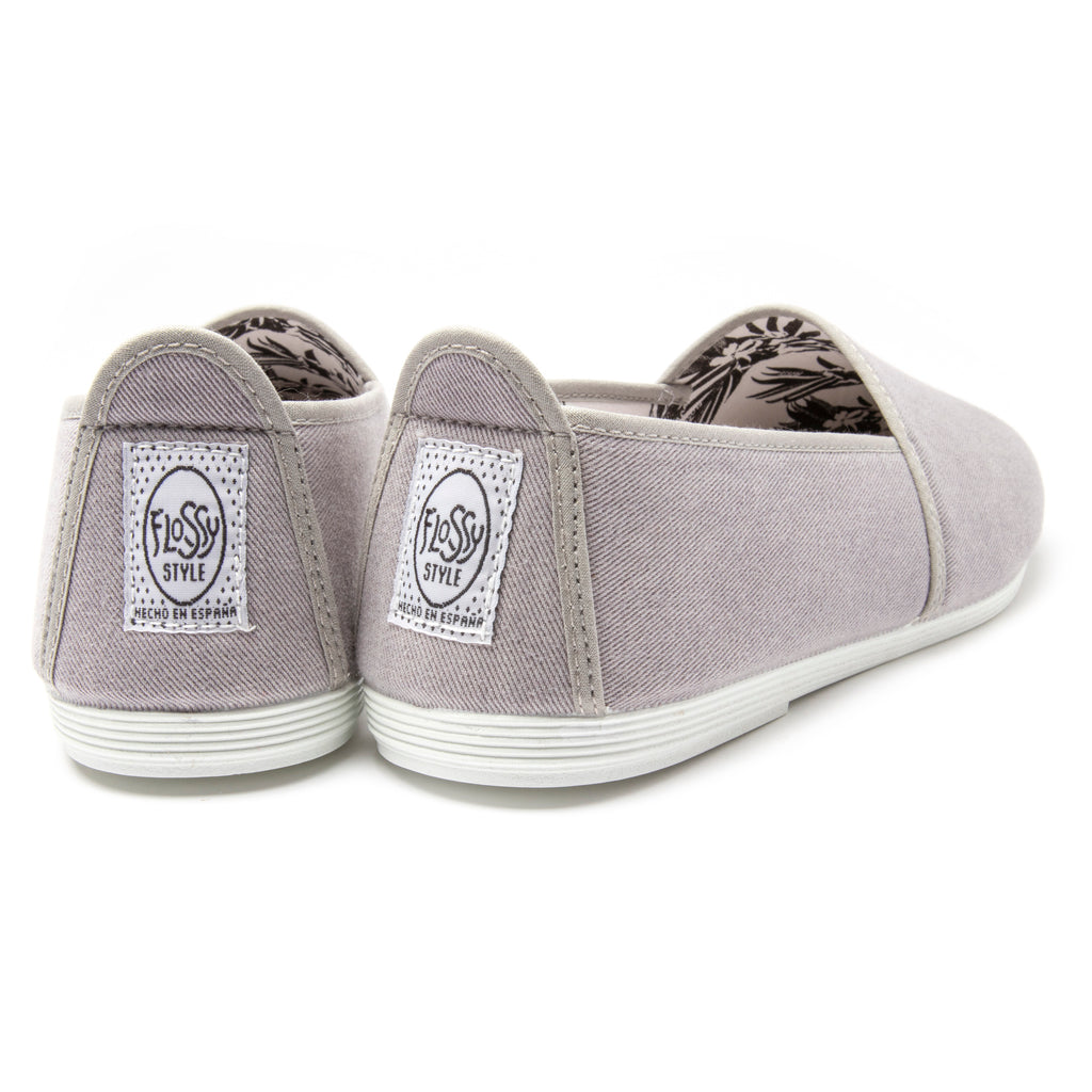 Mens Grey Sancho Slip on Plimsoll