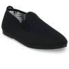 Mens Black Gaudix Slip on Plimsoll
