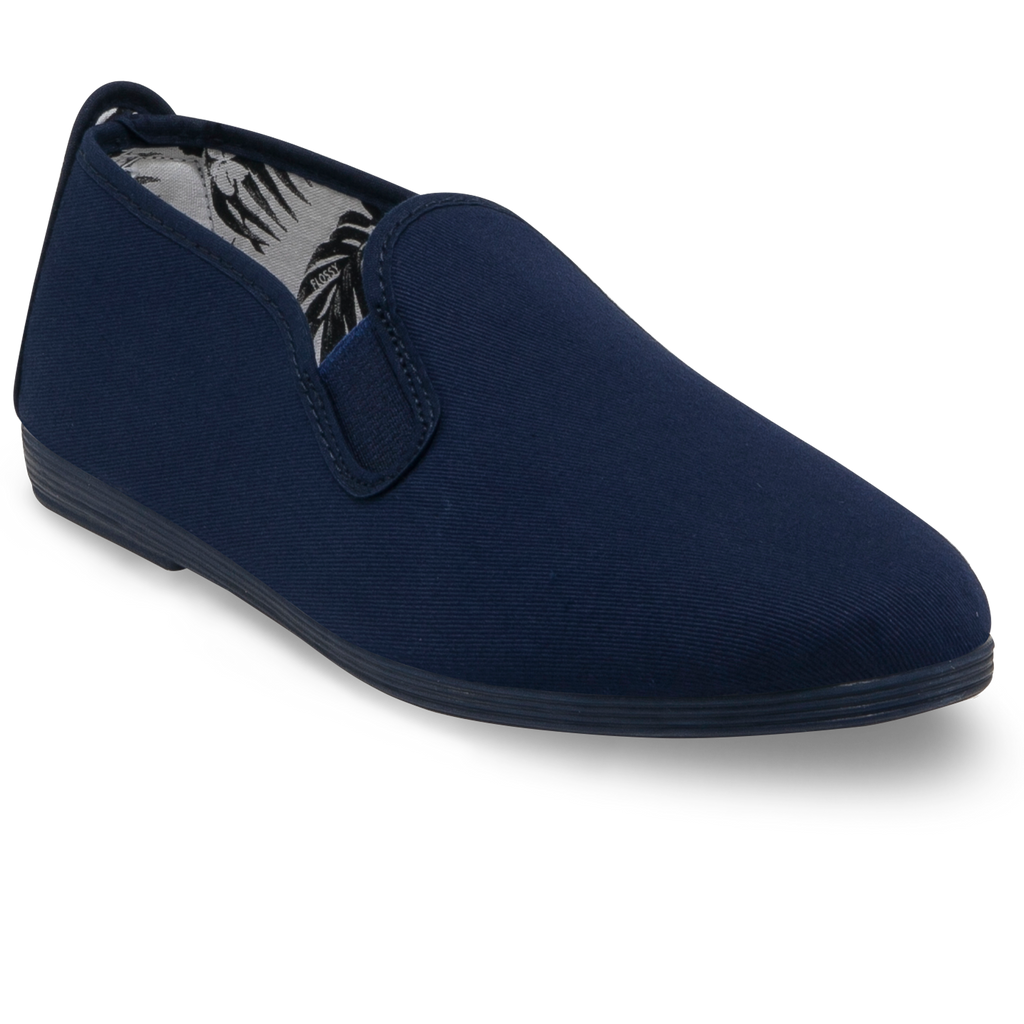 Mens Navy Guadix Slip on Plimsoll
