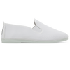 Mens White Guadix Slip on Plimsoll