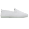 Womens White Guadix Slip on Plimsoll