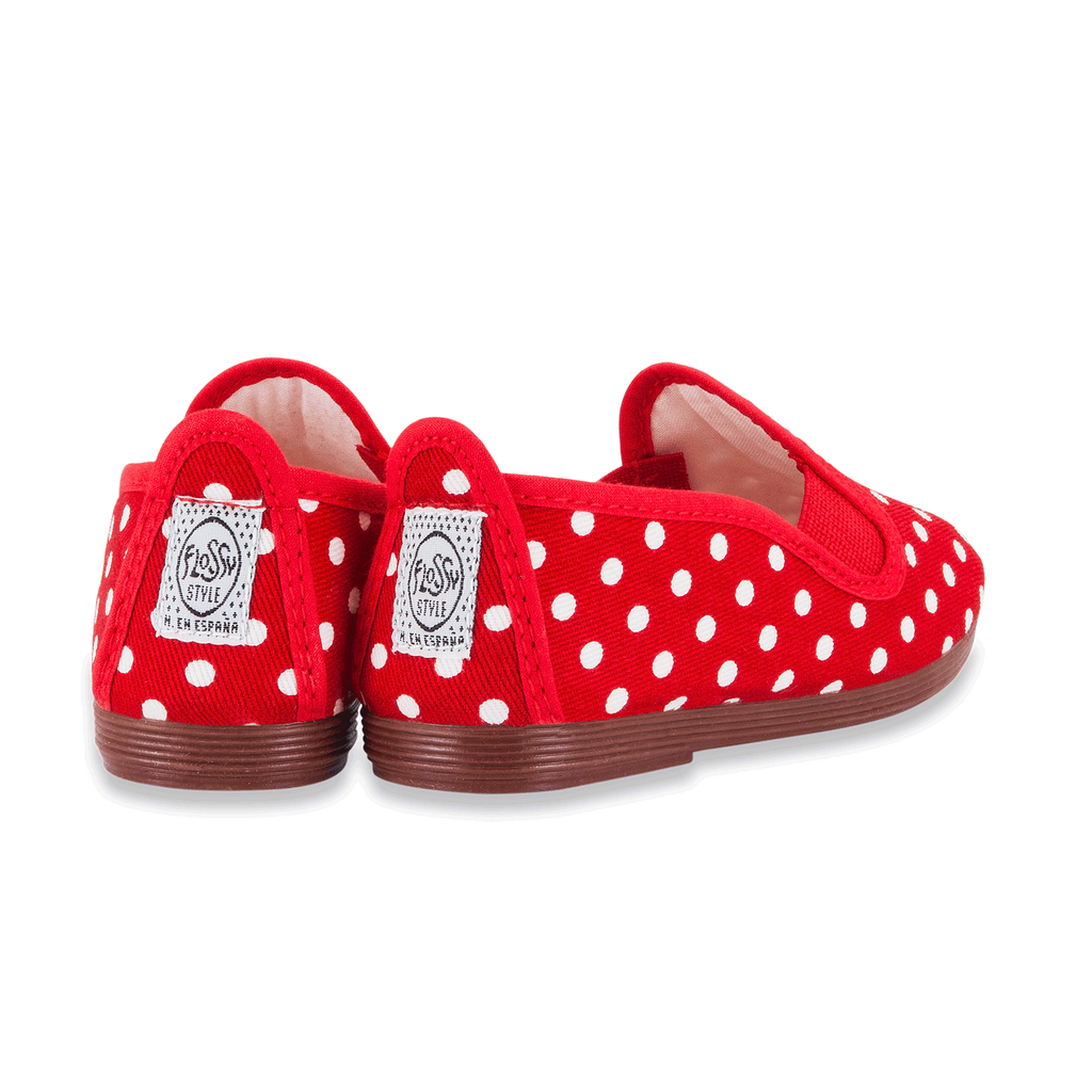 Kids Red Gallur Slip on Plimsoll