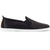 Mens Black Madrid Slip on Plimsoll