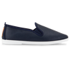 Mens Navy Madrid Slip on Plimsoll