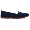 Womens Navy Mijas Slip on Ballerina Plimsoll