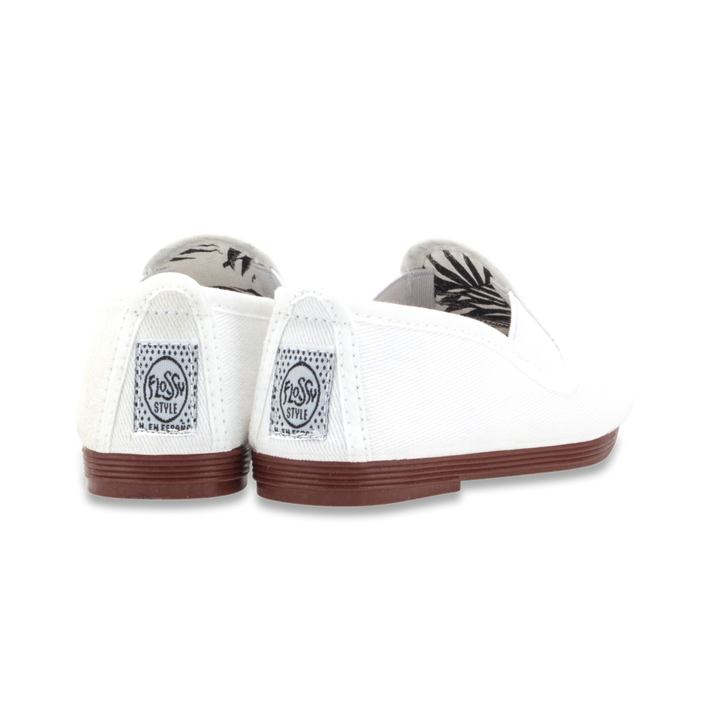 Kids White Pamplona Slip on Plimsoll